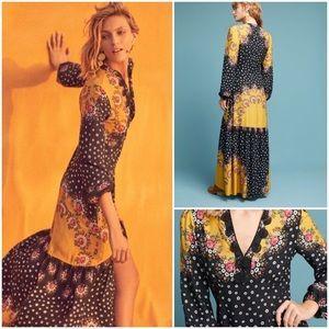 New Anthropologie Farm Rio Maxi Dress